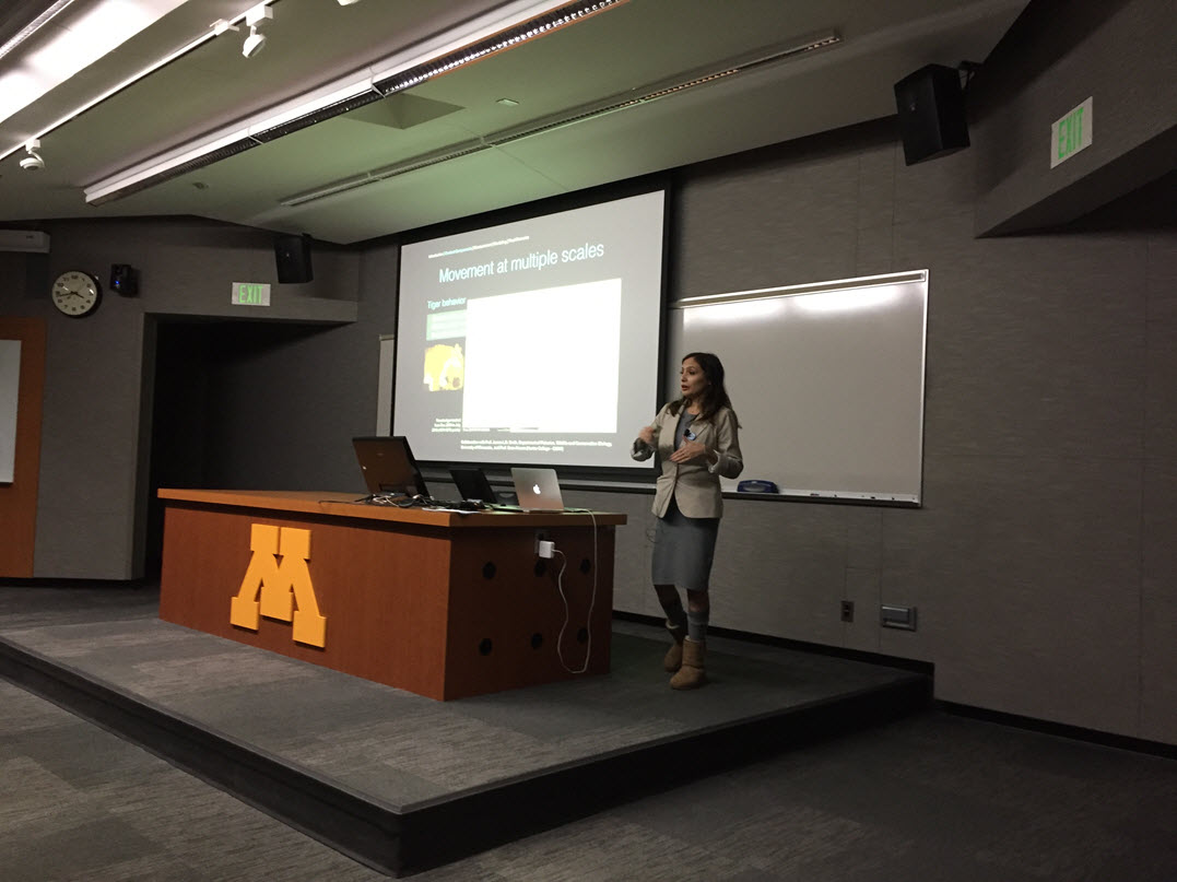 Univ of Minnesota, Somayeh Dodge, GIS Day 2017